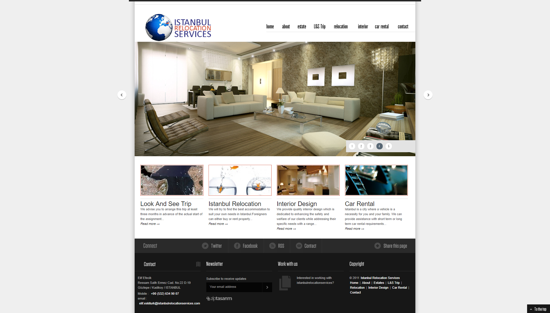 Istanbul Relocation Services Web Sitesi