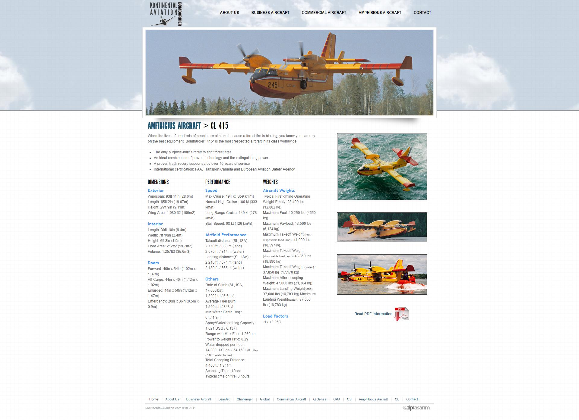Kontinental Aviation Webtasarim 02