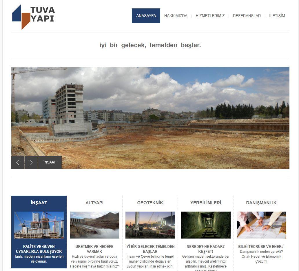 Tuva Yapi Web Tasarım Sitesi